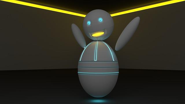радостный робот