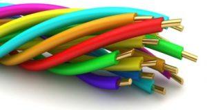 скрученные разноцветные провода