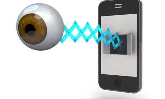 смартфон с глазом